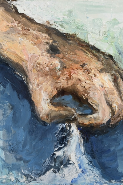 Insaisissable VI, huile sur toile 30x30 cm, 2017. Collection privée.