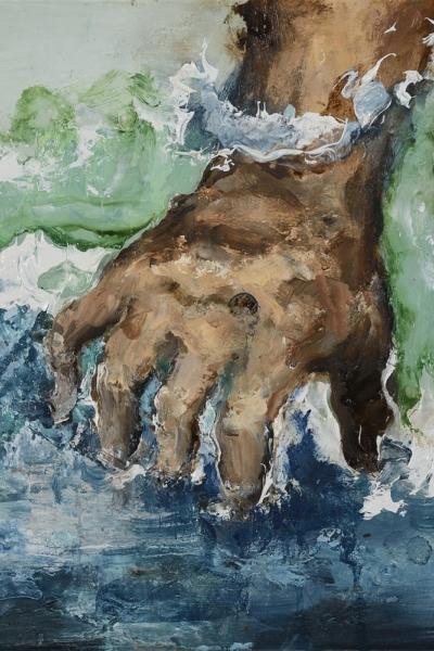 Insaisissable VII, huile sur toile 30x30 cm, 2018. Collection privée.