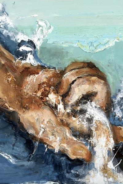 Insaisissable VIII, huile sur toile 30x30 cm, 2018. Collection privée.