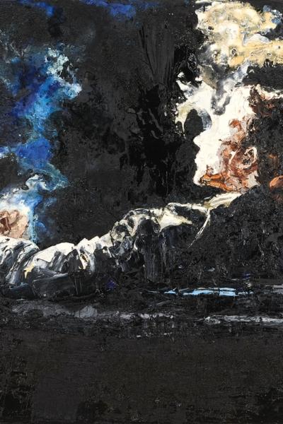 Entre temps, huile sur toile 150x150cm, 2007. Collection privée.
