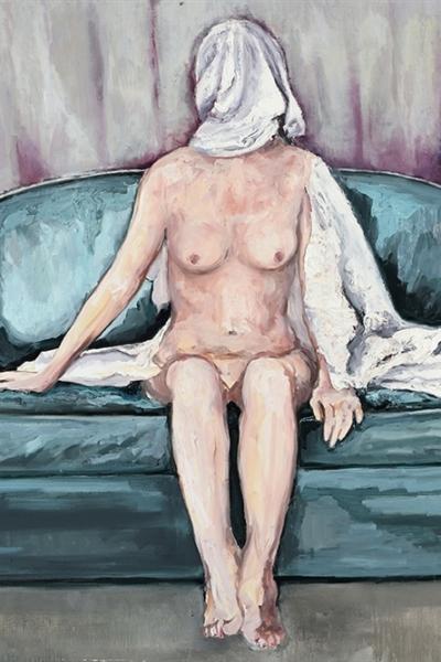 « Dévoiler II », huile sur toile 130x197 cm, 2019