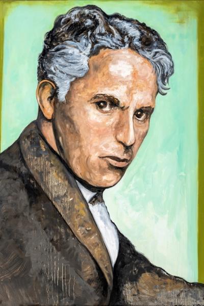 « Charlie Chaplin » huile sur toile 114x147 cm, 2019