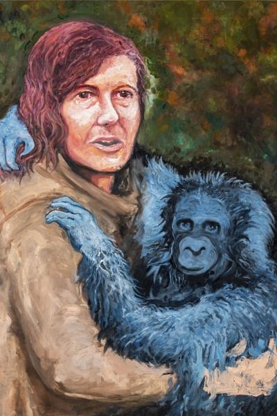 « Diane Fossey» huile sur toile 114x147 cm, 2019