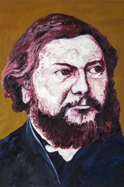 « Gustave Coubet »huile sur toile 114x147 cm, 2019