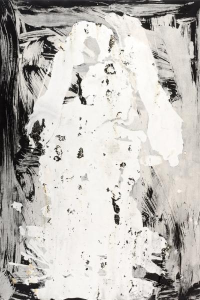Tsunami, gomme arabique sur papier, 56x76 cm, 2006.