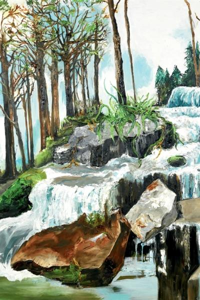 Furania, huile sur toile 200x200 cm, 2013. Collection Altavia Groupe.