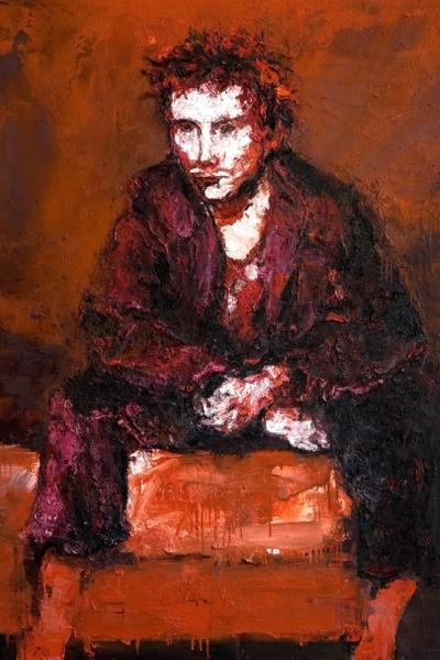Johnny, huile sur toile 150x170cm, 2007. Collection privée.
