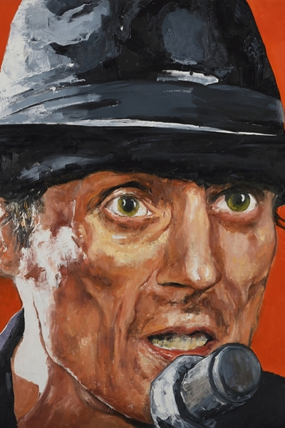 « Mano Solo »huile sur toile 130x130 cm, 2014