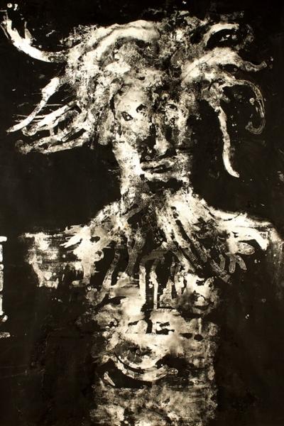 Relief, huile et collage sur toile, 210x 230 cm. 2005.