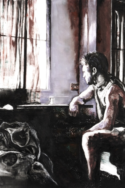Wait and see, pastel sur papier 130x130 cm, 2010. Collection privée.