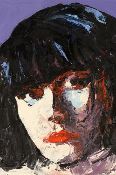 Pj Harvey, huile sur toile 60x60cm, 2007. Collection privée.
