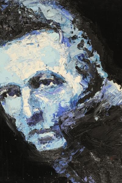 Joe Strummer, huile sur toile 60x60cm, 2007. Collection privée.