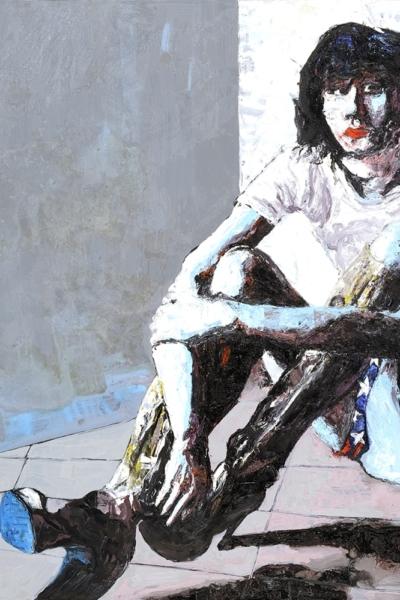Pj Harvey, huile sur toile 150x150cm, 2007. Collection privée.