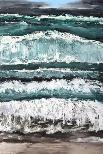Reborn, huile sur toile 130X197 cm, 2013.