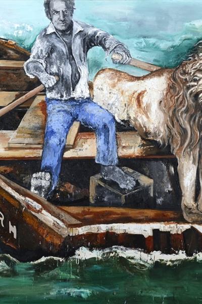 Reborn project, huile sur toile 200x300 cm, 2014.