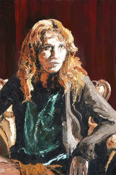 « Vertigo »huile sur toile 197x130 cm,2014 Collection privée.