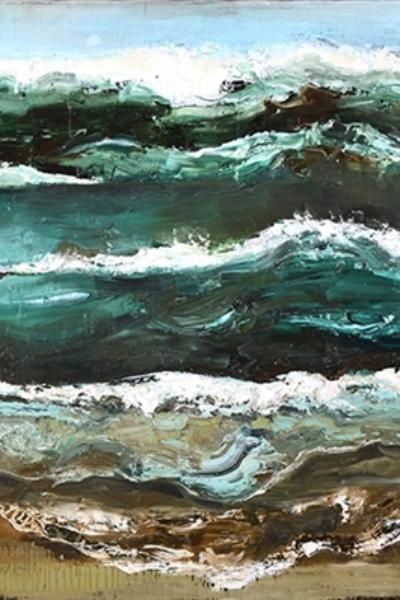 Reborn, huile sur toile 80X240 cm. 2013