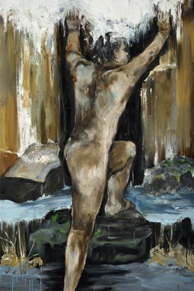 La source, huile sur toile 130x197 cm, 2015. Collection privée.