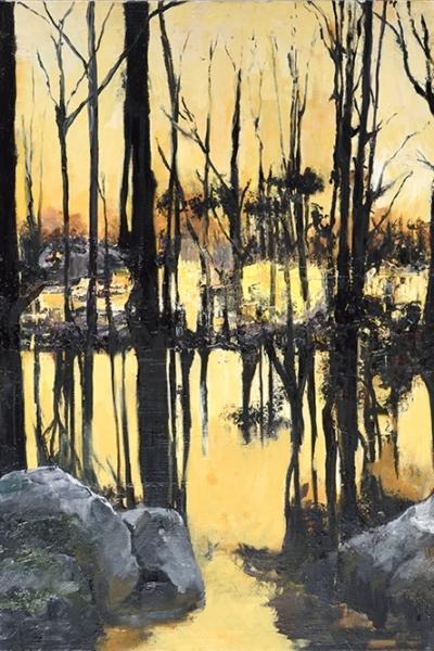 Yellow, huile sur toile 130x197 cm, 2015 . Collection privée.