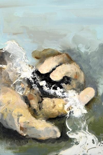 Insaisissable, huile sur toile 30x30 cm, 2017. Collection privée.