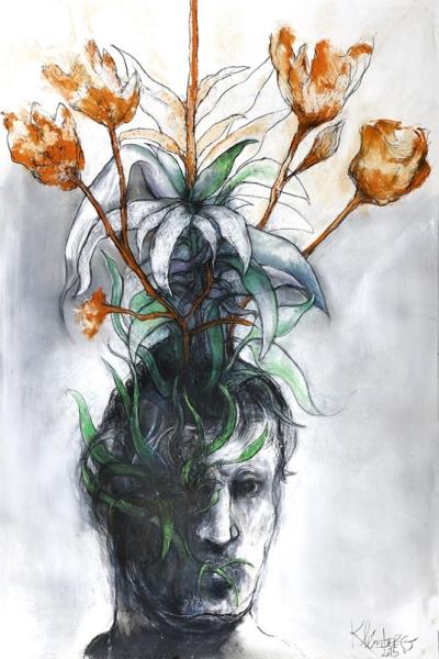 Germination I, pastel sur papier 80X120 cm, 2015