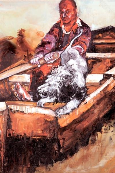 Le quarantième rugissant, huile sur toile 200x200 cm, 2011