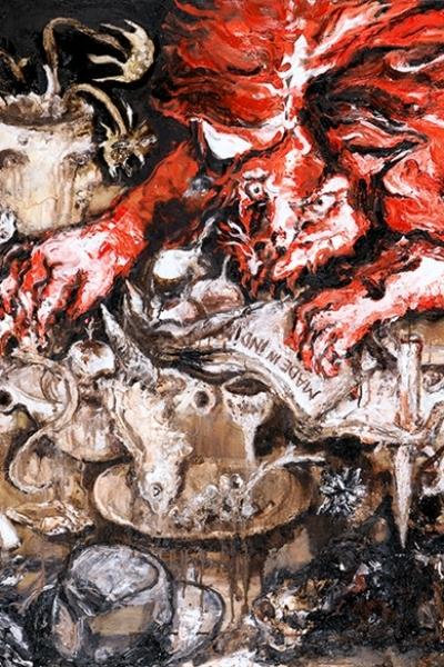 Le festin du coeur, huile sur toile, 114x195 cm, 2010