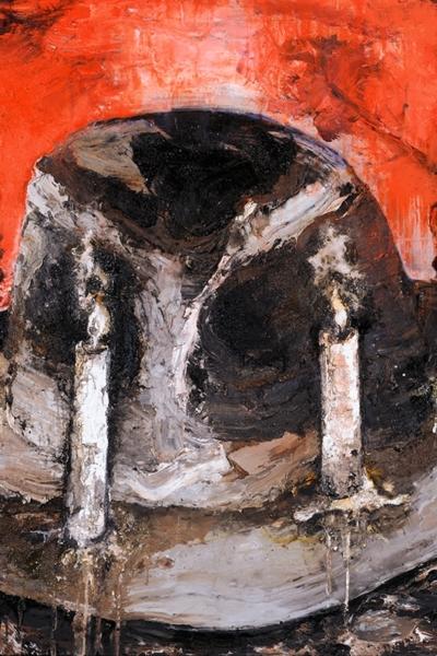 La quadrature du cercle, huile sur toile, 150X120 cm, 2010. Collection privée