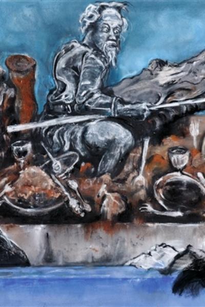 Don Quichotte, pastel sur papier 130x300 cm, 2010