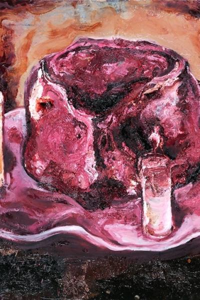 La quadrature du cercle II, huile sur toile, 73x100 cm, 2011