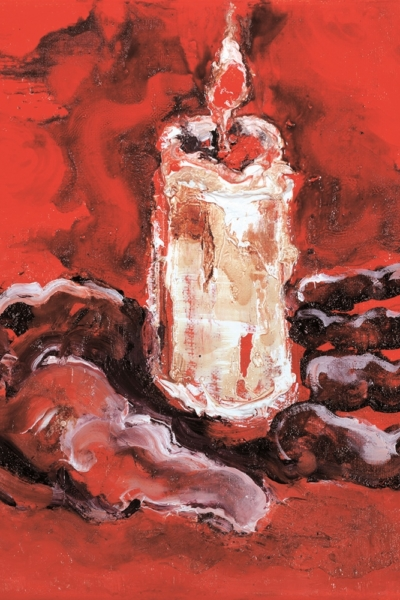 Main, huile sur toile. 30x30 cm, 2011. Collection privée