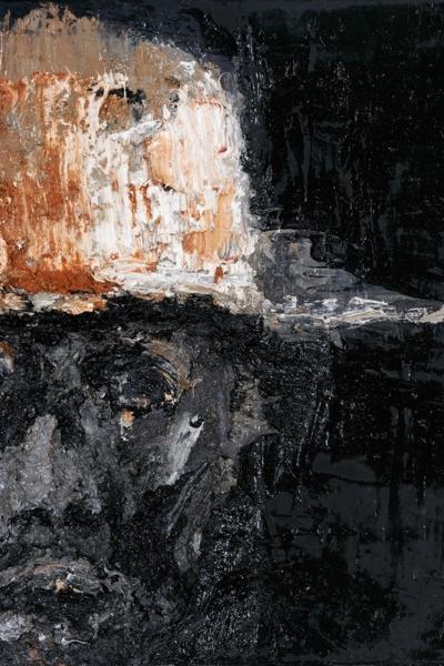 Face, huile sur toile, 30x30 cm, 2011. Collection privée.