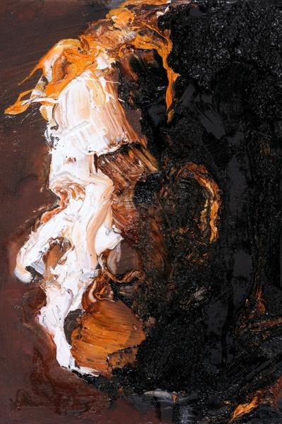 Face, huile sur toile. 30x30 cm, 2011. Collection privée