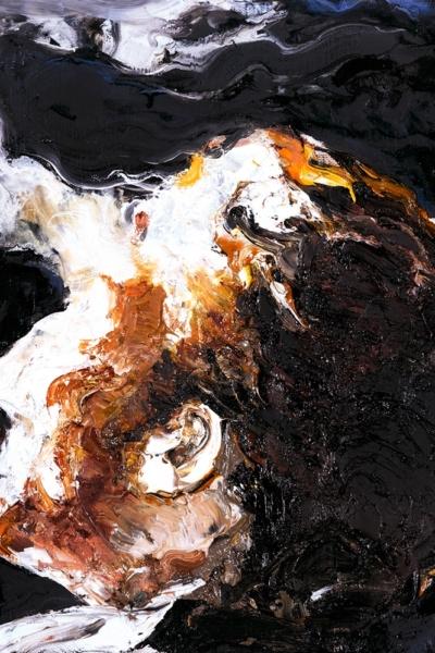 Face, huile sur toile, 30x30 cm, 2011. Collection privée