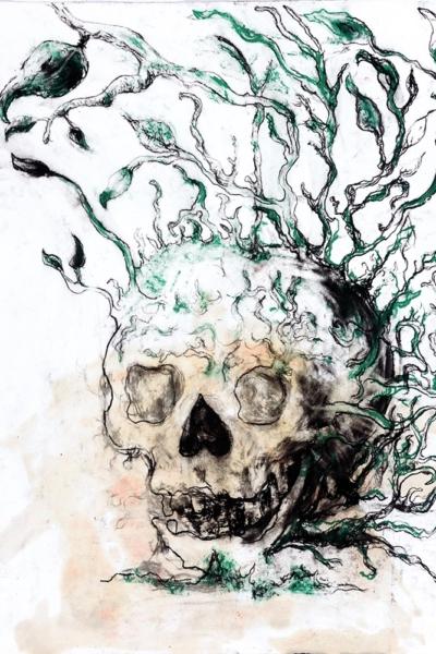 Germination, pastel sur papier, 57x76 cm, 2011. Collection privée.