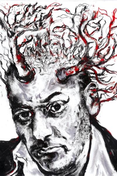 Autoportrait, pastel sur papier, 57x76 cm, 2011.