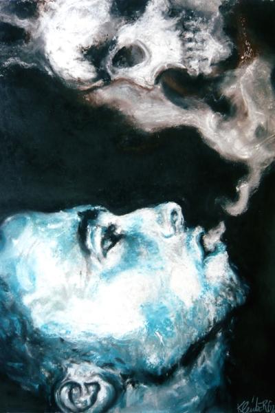 Smoke, pastel sur papier 57x76cm, 2009.