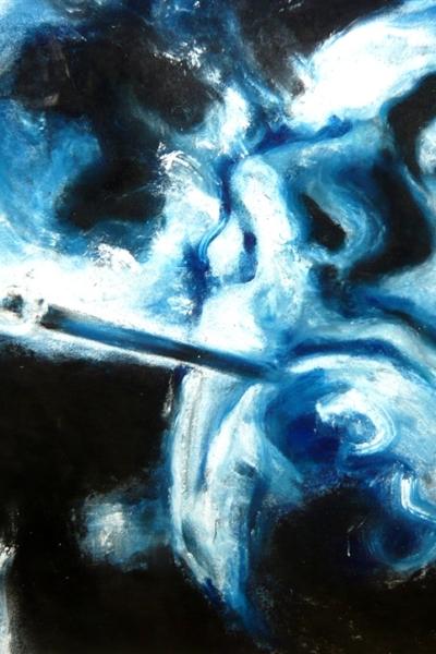 Smoke IIII, pastel sur papier 57x76cm, 2009.