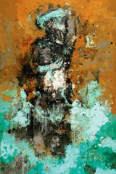 Gange II, huile sur toile,197x130 cm. 2005. Collection privée.