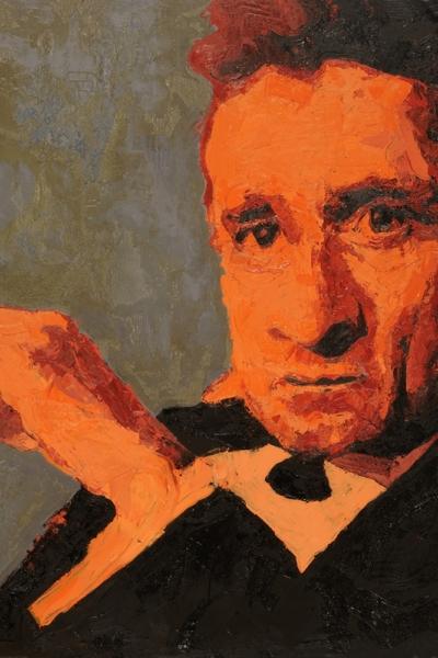 Cash, huile sur toile 150x150cm, 2007. Collection privée.