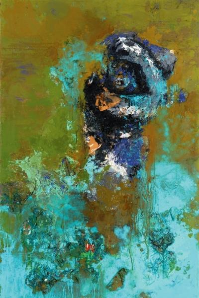 Ablution, huile sur toile 130x197 cm, 2006. Collection privée.