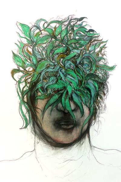 Germination, pastel sur papier 80x120 cm,2018
