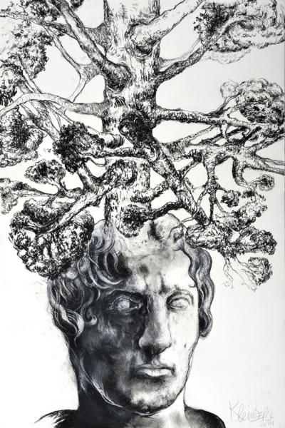 Germination, 2015, pastel sur papier, 76X 105 cm Fred Kleinberg