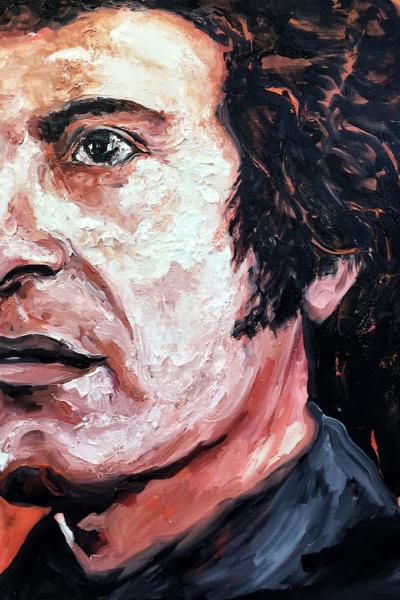 Victor Jara , huile sur toile 114x147 cm, 2019