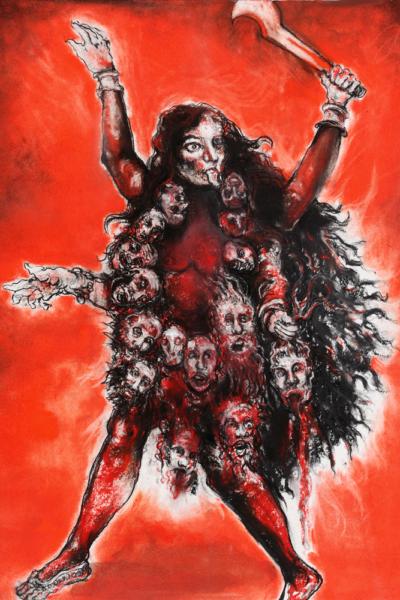 Kali, pastel sur papier, 57X76 cm, 2011.