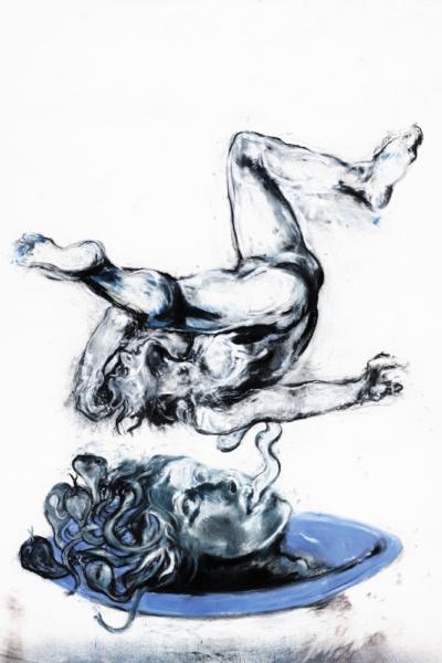 Médusa, pastel sur papier, 130X180 cm, 2011.