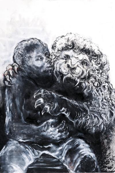 Nigredo, pastel sur papier, 57X76 cm, 2011. Collection privée.