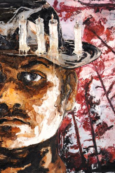 Phénix, huile sur toile, 200X200 cm, 2010.