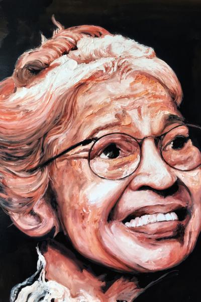 Rosa Parks, huile sur toile 114x147 cm, 2019