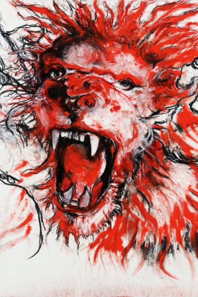 Scream, pastel sur papier, 57X76 cm, 2011. Collection privée